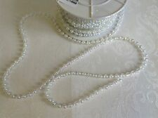 1 metre IRIDESCENT pearl trim / beading - fused * 5mm * for craft & cake decor