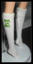 STOCKINGS  BARBIE DOLL MODEL MUSE JUICY COUTURE WHITE LOGO KNEE HIGH SOCKS