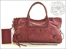 RDC5157 Authentic Balenciaga Cassis Burgundy Part Time Tote Bag