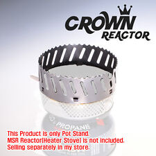 New Coola Crown Pot Stand for MSR Reactor Gas Stove Stainless Wind Block Outdoor