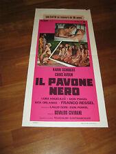 LOCANDINA 1974,IL PAVONE NERO,Karin Schubert,Osvaldo Civirani.Avram erotico