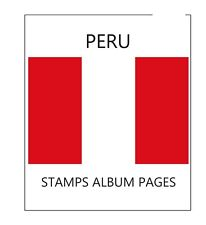 PERU STAMPS ALBUM PAGES 2011-2014 - PDF FILE ILUSTRATED COLOR