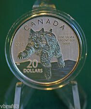 2014 CANADA $20 for $20 Bobcat coin in original folder - #12 in series
