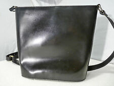 CRISTIAN Crossbody Shoulder Bag Genuine Leather Black Made in ITALY