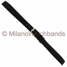 8mm Hirsch Black Genuine Saddle Leather Ladies Unstitched Open Ended Watch Band