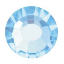 Viva Flat Backs Preciosa Crystal 7SS 2.2mm 37101 (40) Aqua Blue Rhinestones