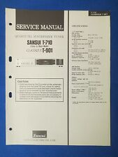 SANSUI T-710 T-910 CLASSIQUE TUNER SERVICE MANUAL ORIGINAL FACTORY ISSUE