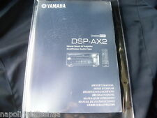Yamaha DSP-AX2 Owner's Manual  Operating Instruction   New