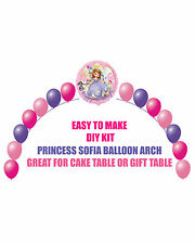 Princess Sofia the First Birthday Party BALLOON ARCH for Cake Table Gift Table