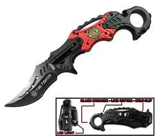 FIRE FIGHTER MULTI-FUNCTION FOLDING BLADE KNIFE W RING knives KN471 blades NEW
