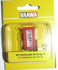 SH Brawa 5448 Telefonzelle  rot  bel.