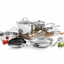 Wolfgang Puck - 18 Piece Stainless Steel Cookware Set - Brand New!