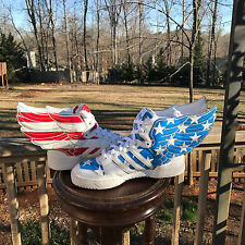 US Size 6.5 Adidas Jeremy Scott Wings 2.0 US FLAG 100% Authentic  V24619