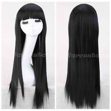 Charming Ladies Long Straight Brown/Black Fashion Women's Full Hair Wig Wigs+Cap