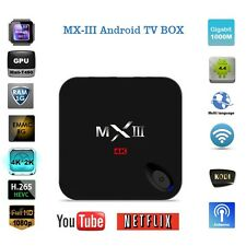 4K HD MX3 S812 XBMC Kodi 1080P Quad Core Android 4.4 Smart TV BOX Media Player