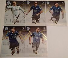 2016-2017 TOPPS PREMIER GOLD SOCCER LEICESTER CITY TEAM SET 5 CARDS