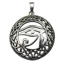 Sterling Silver (925)  Eye  Of  Horus  Pendant ( 6.5 gram )  !!   Brand New !!