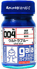 GAIA COLOR 004 Ultra Blue GUNDAM MODEL KIT PAINT 15ml LACQUER NEW Free Ship