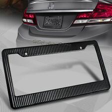 1 x JDM Black Carbon Look License Plate Frame Cover Front & Rear Universal 3