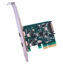 Réversible 2 ports usb 3.1 type c to pci express adaptateur 4X carte d'extension pci-e