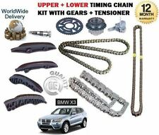 FOR BMW X3 2.0D E83 F25 20D XDRIVE  2007-  UPPER + LOWER TIMING CHAIN KIT SET