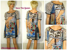 $270 New SAVE THE QUEEN Summer Cocktail Tunic Top, T36-38/ S (small) #Italy