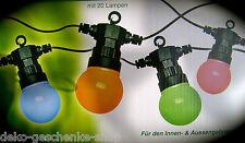LED Guirlande lumineuse avec 20 Lampes de couleur pour Intérieur et Extérieur