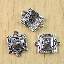 24pcs Tibetan Silver foursquare linker charms h0996