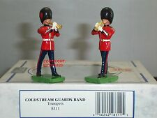 BRITAINS 8311 COLDSTREAM GUARDS BAND TRUMPET PLAYERS METAL TOY SOLDIER SET