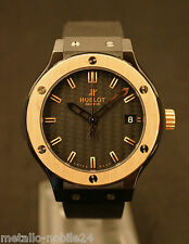 Hublot Classic Fusion 38mm Quartz, Black Carbon Dial, Rose Gold Bezel Neuwertig