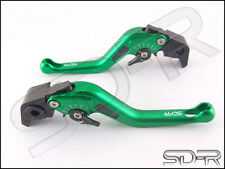 99-2003 Ducati MONSTER M400 Carbon Fiber inlay Short SDR Adjustable Levers Green