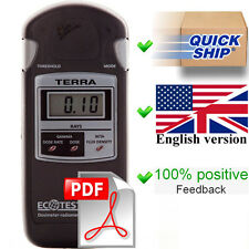 English User Manual (full) + Quick Start for dosimeter Terra MKS 05. PDF files