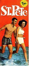 St Pete St Petersburg Florida FL Vintage Brochure Color Photos