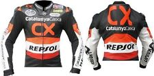 HONDA-REPSOL-CX Motorcycle Leather Jacket Motorbike Racing,CE,ARMOUR (Replica)