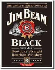Jim Beam Black Label metal sign  400mm x 320mm   (de)