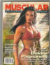 MUSCULAR DEVELOPMENT Bodybuilding Muscle Mag Deidre Paganelli  w/poster 8-96