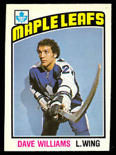 1976 77 OPC O PEE CHEE 373 DAVE WILLIAMS EX-NM TORONTO MAPLE LEAFS HOCKEY ROOKIE