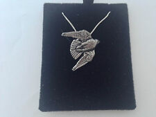 B15 Stooping Falcon on a 925 sterling silver Necklace Handmade 26 inch chain