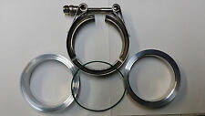 "3"" 3.0"" Aluminum VBand V-Band Clamp Flange Kit o-ring oring Turbo Intake"