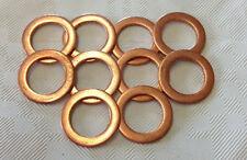"""10 X  brake banjo copper washers 10MM / 3/8""""  Suzuki  Kawasaki  Honda  Yamaha"""