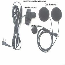 Motorcycle Headset for Kenwood TK Series Portable ( Closed Face Helmet ) HM-100K