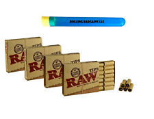 84 RAW PRE ROLLED ROOLING PAPER TIPS PREROLLED FILTERS + 1 COOL TUBE