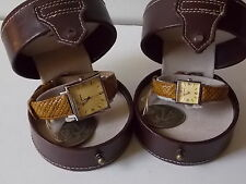 Tommy Bahama Watches His&Hers Set Tan Braid Strap TB1000 and TB2000 NWT