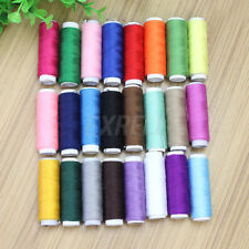 24 Pcs Spools Polyester Sewing Machine Fine Quality Thread Reel Cord String
