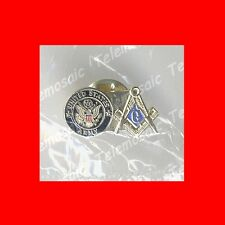 NEW MILITARY GIFT:US USA U.S.A.FREE MASONS'MASONIC ARMY LAPEL PIN-FREEMASON,EXC!