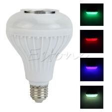 LED Music Bluetooth Audio Speaker Colorful Light Bulb 6W E27 100-240V New