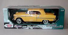 1:18 Motormax 1955 Chevrolet Bel Air Convertible - Yellow w/Yellow Top