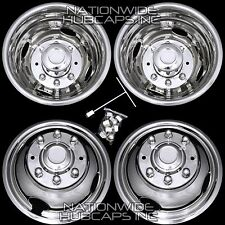 "99-02 FORD F350 16"" Dually Stainless Steel Wheel Simulators Rim Liner Covers F9"