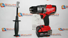 "Milwaukee 2706-20 M18 18V Li-Ion Fuel 1/2"" Hammer Drill ONE-KEY & Battery 5.0Ah"