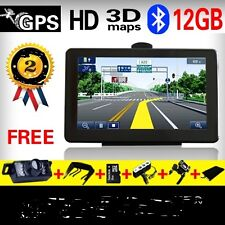 "7"" Car GPS Navigation System Bluetooth Wireless reverse Camera   8G Map Card  fr"